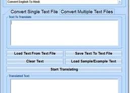 English To Hindi and Hindi To English Converter Software Download