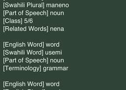 English Swahili Dictionary Free Download and Install | Ios